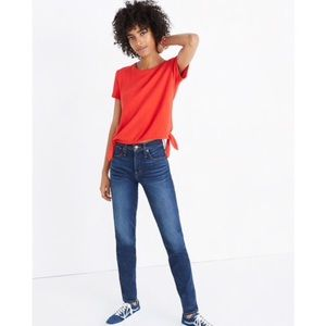 MADEWELL TEXTURE AND THREAD MODERN SIDE TIE TOP